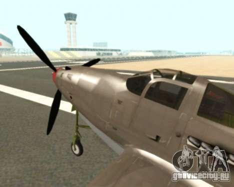 Aircobra P-39N для GTA San Andreas вид сзади слева