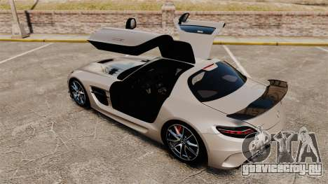 Mercedes-Benz SLS AMG Black Series 2014 для GTA 4 вид сверху