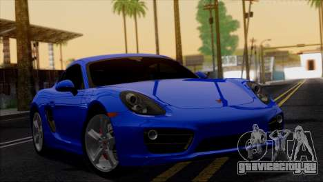 Porsche Cayman S 2014 для GTA San Andreas вид снизу