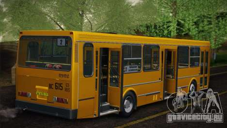 ЛиАЗ 5256.00 Скин-пак 5 для GTA San Andreas вид сзади