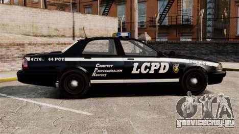 GTA V Vapid Police Cruiser [ELS] для GTA 4 вид слева