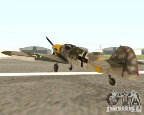Bf-109 G6 v1.0 для GTA San Andreas вид справа