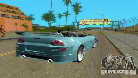 Mitsubishi Eclipse GT 2001 для GTA Vice City вид сзади слева