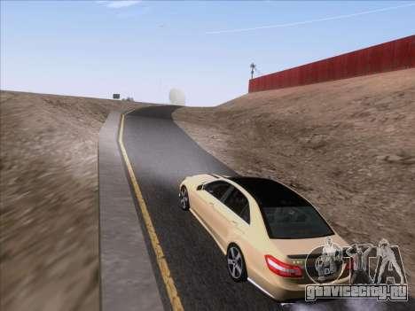 Mercedes-Benz E63 AMG 2011 Special Edition для GTA San Andreas вид изнутри