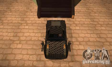 Cheetah Zomby Apocalypse для GTA San Andreas вид сзади слева