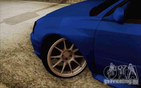 Subaru Impreza JDM для GTA San Andreas вид слева