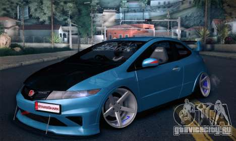 Honda Civic Type R Mugen для GTA San Andreas вид сзади слева