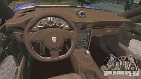 Porsche 911 Sport Classic 2010 Red Bull для GTA 4 вид сбоку