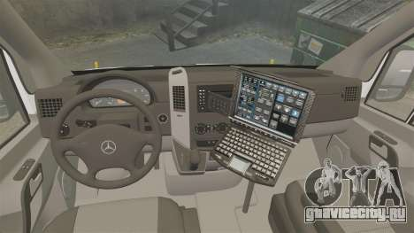 Mercedes-Benz Sprinter 2500 Prisoner Transport для GTA 4 вид сзади