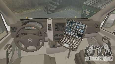 Mercedes-Benz Sprinter 3500 Emergency Response для GTA 4 вид сзади