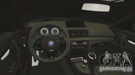 BMW 1 M 2011 для GTA 4 вид сзади