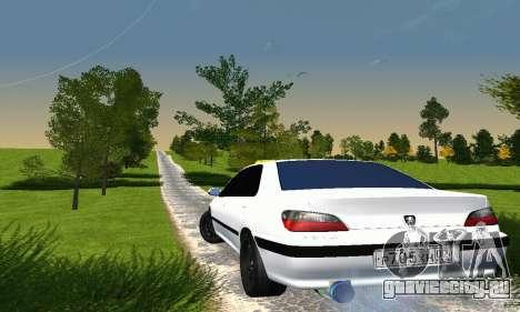 Peugeot 406 Taxi для GTA San Andreas вид сзади