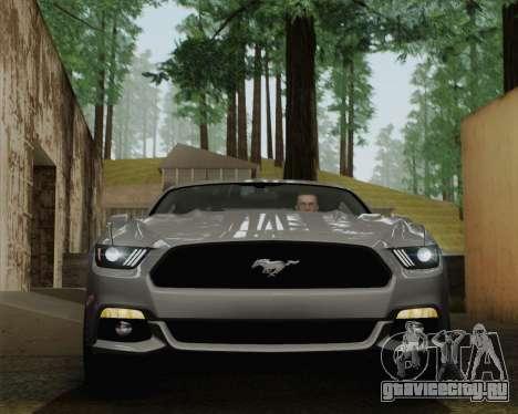 Ford Mustang GT 2015 для GTA San Andreas вид сверху