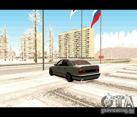 BMW 5-er E34 корч для GTA San Andreas вид слева