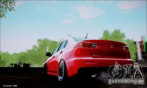 Mitsubishi Lancer Evolution X Stance Work для GTA San Andreas вид слева