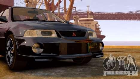 Mitsubishi Lancer Evolution VI GSR 1999 для GTA 4 вид сзади