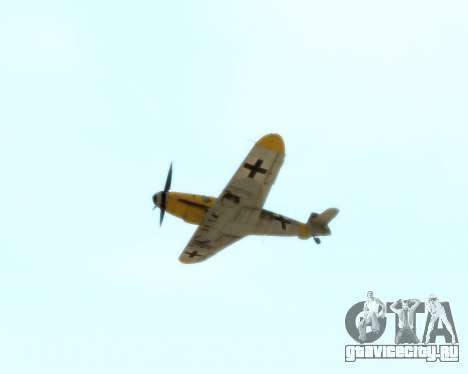 Bf-109 G6 v1.0 для GTA San Andreas вид изнутри