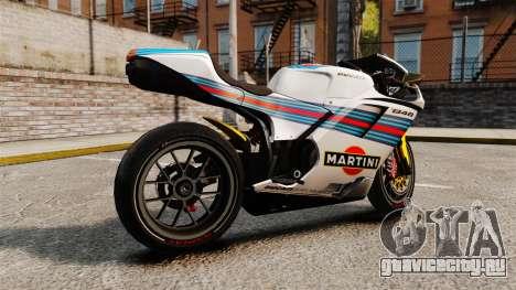 Ducati 848 Martini для GTA 4 вид слева