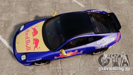 Porsche 911 Sport Classic 2010 Red Bull для GTA 4 вид справа