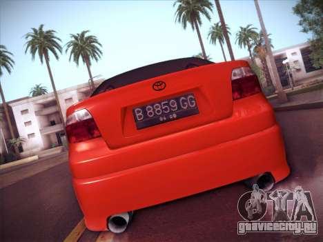 Toyota Vios Modified Indonesia для GTA San Andreas вид сзади
