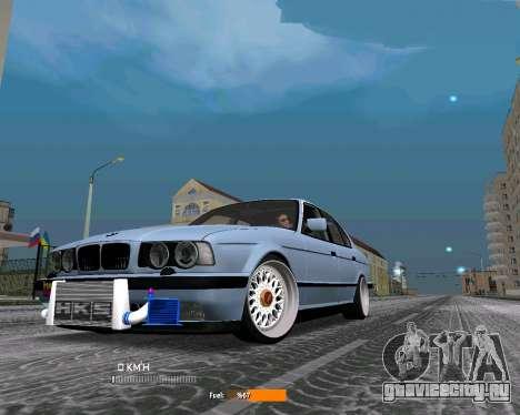 BMW E34 JDM для GTA San Andreas вид слева
