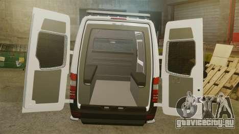 Mercedes-Benz Sprinter 2500 Prisoner Transport для GTA 4 вид сбоку