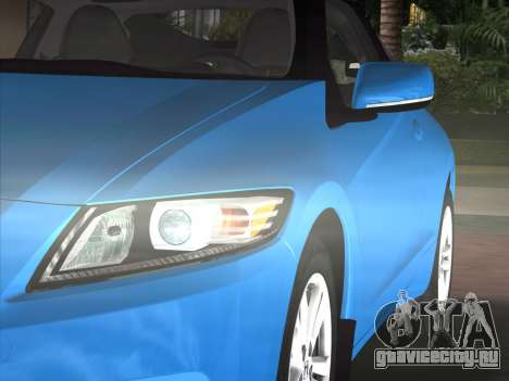 Honda CR-Z 2010 для GTA Vice City вид сзади