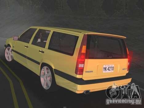 Volvo 850 R Estate для GTA Vice City вид справа