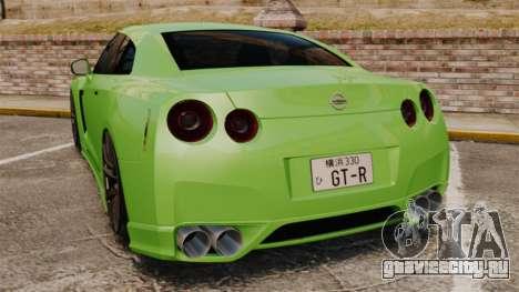 Nissan GT-R SpecV 2010 для GTA 4 вид сзади слева