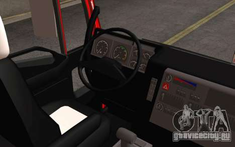 Iveco EuroTech 6x4 Doors для GTA San Andreas вид изнутри