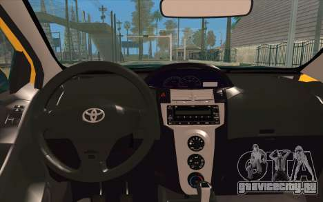 Toyota Vios 2008 для GTA San Andreas вид сзади