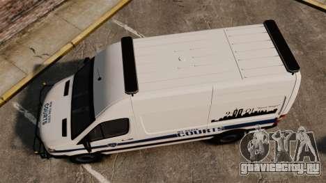 Mercedes-Benz Sprinter 2500 Prisoner Transport для GTA 4 вид справа