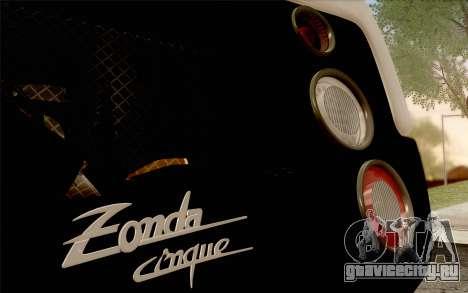 Pagani Zonda Cinque для GTA San Andreas вид снизу