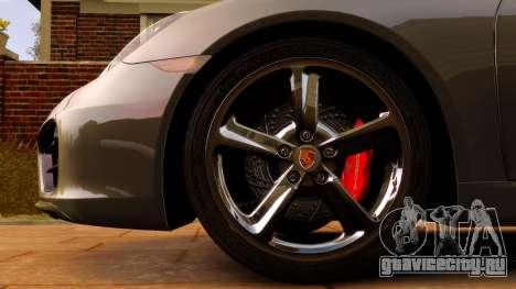 Porsche Cayman 981 S v2.0 для GTA 4 вид изнутри
