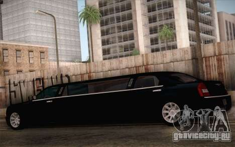 Chrysler 300C Limo 2007 для GTA San Andreas вид сверху