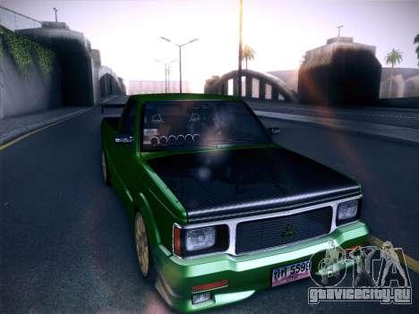 Mitsubishi Cyclone для GTA San Andreas вид сзади