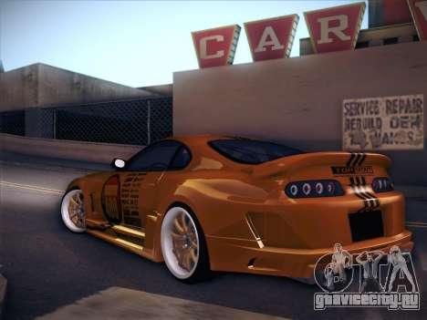 Toyota Supra Top Secret V12 для GTA San Andreas вид справа