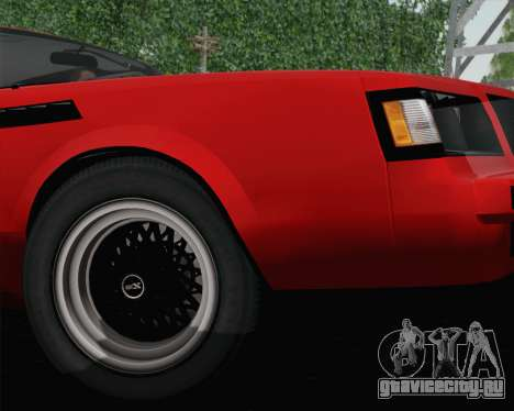 Buick GNX 1987 для GTA San Andreas вид изнутри