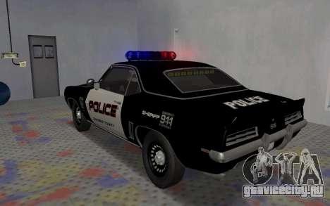 Chevrolet Camaro SS Police для GTA San Andreas вид справа