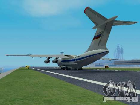 Ил-76ТД v 1.0 для GTA San Andreas вид сзади