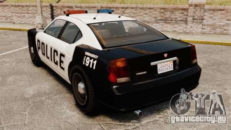 GTA V Buffalo Police для GTA 4 вид сзади слева