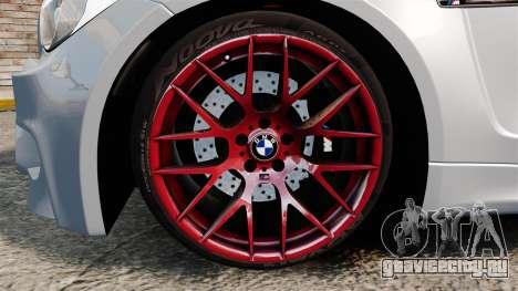 BMW 1 M 2011 для GTA 4 вид изнутри