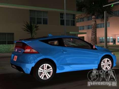 Honda CR-Z 2010 для GTA Vice City вид сверху