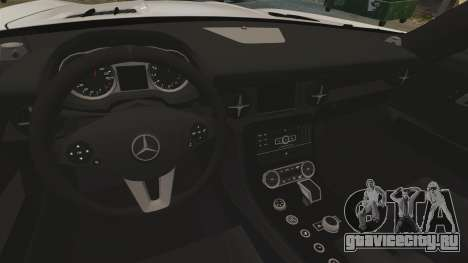 Mercedes-Benz SLS AMG Black Series 2014 для GTA 4 вид сбоку