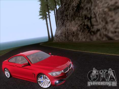 BMW F32 4 series Coupe 2014 для GTA San Andreas вид справа