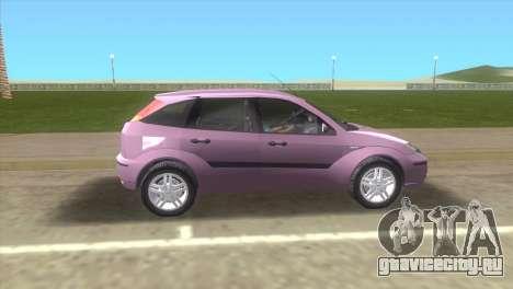 Ford Focus SVT для GTA Vice City вид слева