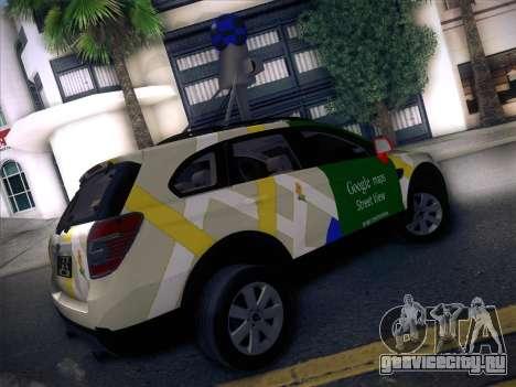 Chevrolet Google Street View Chile для GTA San Andreas вид сзади слева