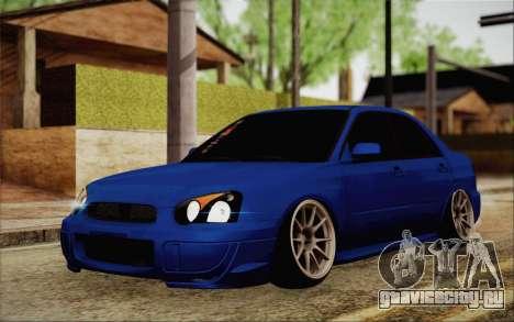 Subaru Impreza JDM для GTA San Andreas вид сзади