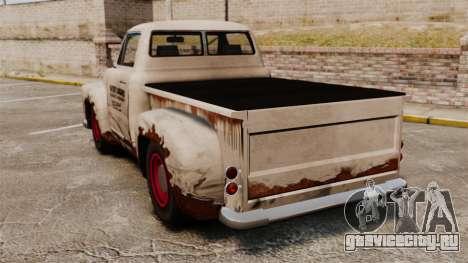 Ржавый старый грузовик для GTA 4 вид сзади слева