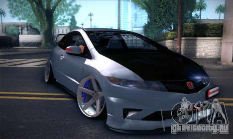 Honda Civic Type R Mugen для GTA San Andreas вид слева